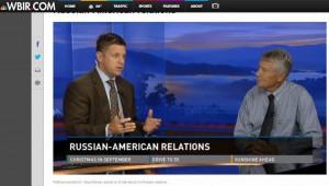 О. Манаев выступает на телевидении Теннесси (Ноксвилл, США, сентябрь 2013 г.)