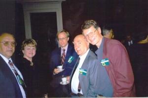 О. Манаев и Л. Заико в кулуарах Вильнюсского саммита (сентябрь 1997 г.)