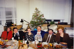 Встреча Нового Года в офисе НИСЭПИ (Минск, декабрь 1998 г.)