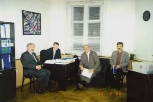 Визит вице-президента Торговой палаты США У. Уоркмана в НИСЭПИ (Минск, март 2000 г.)