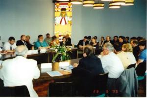 Участники ежеквартального брифинга БФМ/НИСЭПИ (Минск, июнь 2000 г.)