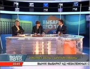О. Манаев выступает на «Выбарнам вечары» Белсата 19 декабря 2010 г. (Варшава)