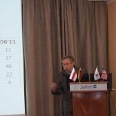 С. Николюк выступает на международной конференции «Будущее Беларуси», посвященной 20-летию НИСЭПИ (Вильнюс, май 2012 г.)